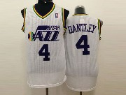 Mens Nba Utah Jazz #4 Dantley White Revolution 30 Jersey (m)