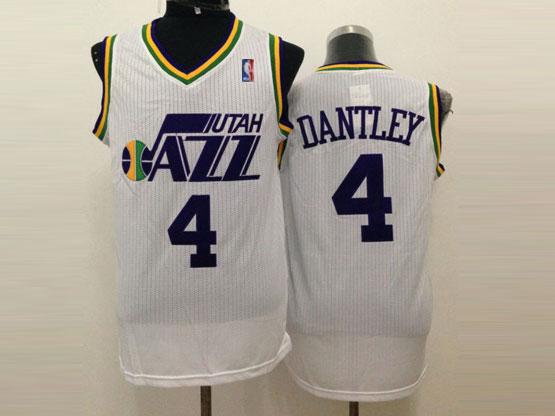 Mens Nba Utah Jazz #4 Dantley White Revolution 30 Jersey (m)
