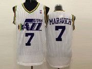 Mens Nba Utah Jazz #7 Maravich White Revolution 30 Jersey (m)