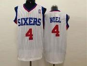 Mens Nba Philadelphia 76ers #4 Noel White (red Number) Mesh Jersey