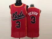 mens nba Philadelphia Sixers #3 Allen Iverson red (black number) mesh jersey