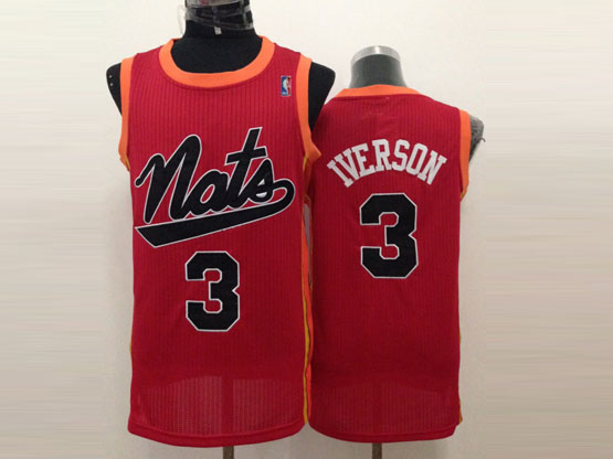 mens nba Philadelphia Sixers #3 Allen Iverson red (black number) mesh jersey
