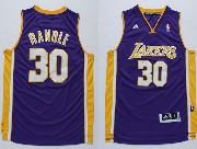Mens Nba Los Angeles Lakers #30 Randle Purple Revolution 30 Jersey (p)
