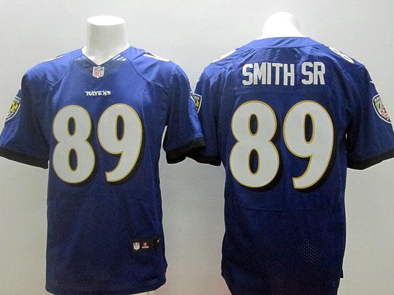 Mens Nfl Baltimore Ravens #89 Steve Smith Sr Sr (2014 New Fl) Purple Elite Jersey