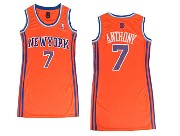 women  nba New York Knicks #7 Carmelo Anthony orange jersey