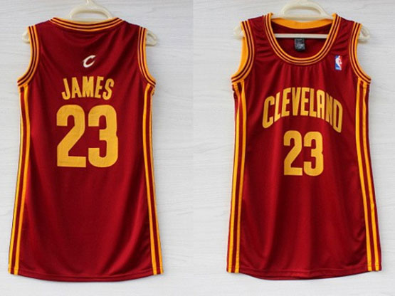 Women  Nba Cleveland Cavaliers #23 Lebron James Red Jersey