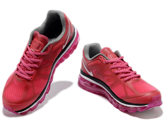 Women    Air Max 2012 Running Shoes Color Red