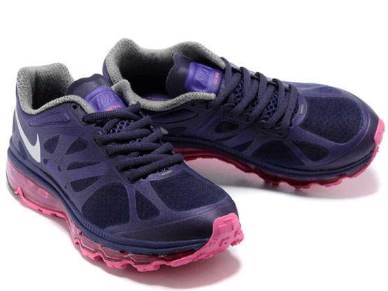 Women    Air Max 2012 Running Shoes Color Purple