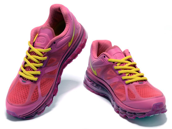 Women    Air Max 2012 Running Shoes Color Red&green