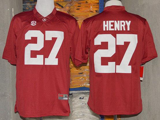 Mens Ncaa Nfl Alabama Crimson #27 Henry Red Sec Limited Jersey
