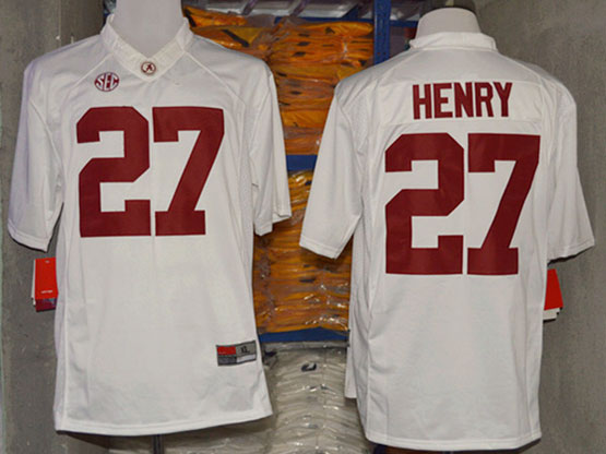 Mens Ncaa Nfl Alabama Crimson #27 Henry White Sec Limited Jersey