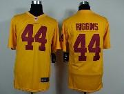 Mens Nfl Washington Redskins #44 Riggins Yellow Game Jersey