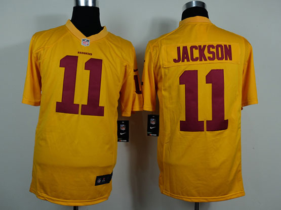 Mens Nfl Washington Redskins #11 Jackson Yellow Game Jersey