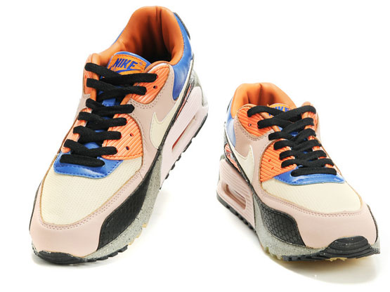 Women    2014 Air Max 90 Running Shoes Color King Of Forest