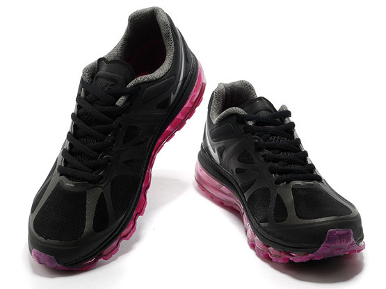 Women    Air Max 2012 Running Shoes Color Black