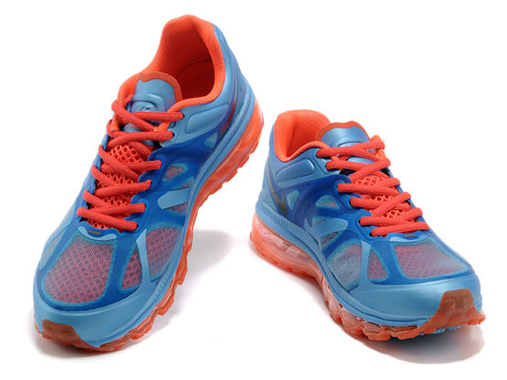 Women    Air Max 2012 Running Shoes Color Blue&red