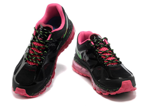 Women    Air Max 2012 Running Shoes Color Black&red