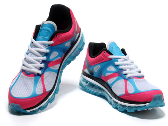 Women    Air Max 2012 Running Shoes Color Red&white&black