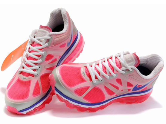 Women    Air Max 2012 Running Shoes Color Red&white&blue