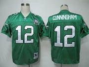 Mens Nfl Philadelphia Eagles #12 Cunningham Green 99th Throwbacks Jersey