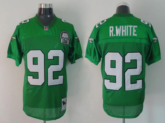 Mens Nfl Philadelphia Eagles #92 R.white Green 99th Throwbacks Jersey