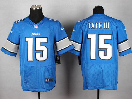 mens nfl detroit lions #15 tate iii Light Blue elite jersey
