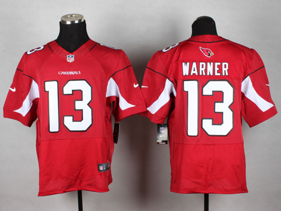 Mens Nfl Arizona Cardinals #13 Warner Red Elite Jersey