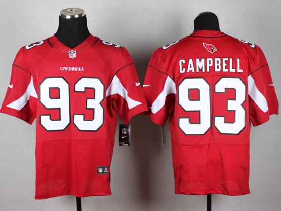 Mens Nfl Arizona Cardinals #93 Calais Campbell Red Elite Jersey