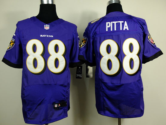 Mens Nfl Baltimore Ravens #88 Pitta (2014 New Fl) Purple Elite Jersey