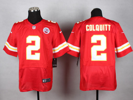 Mens Nfl Kansas City Chiefs #2 Colquitt Red Elite Jersey