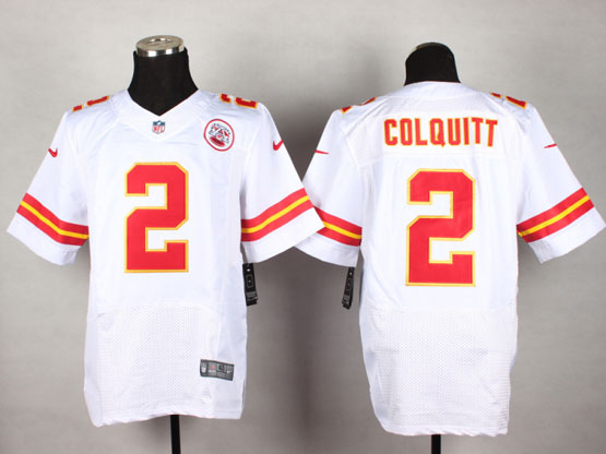 Mens Nfl Kansas City Chiefs #2 Colquitt White Elite Jersey