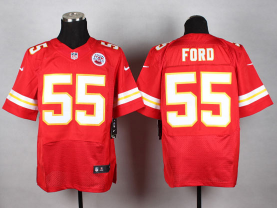 Mens Nfl Kansas City Chiefs #55 Ford Red Elite Jersey