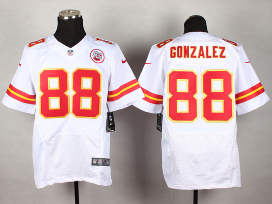 Mens Nfl Kansas City Chiefs #88 Gonzalez White Elite Jersey