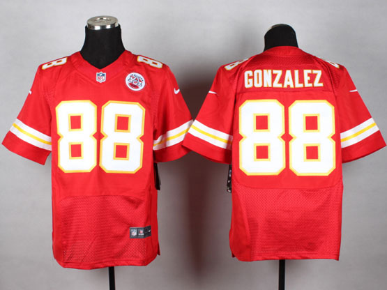 Mens Nfl Kansas City Chiefs #88 Gonzalez Red Elite Jersey