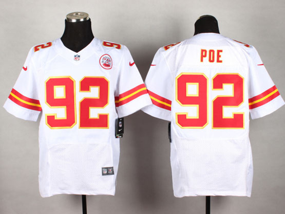 Mens Nfl Kansas City Chiefs #92 Poe White Elite Jersey