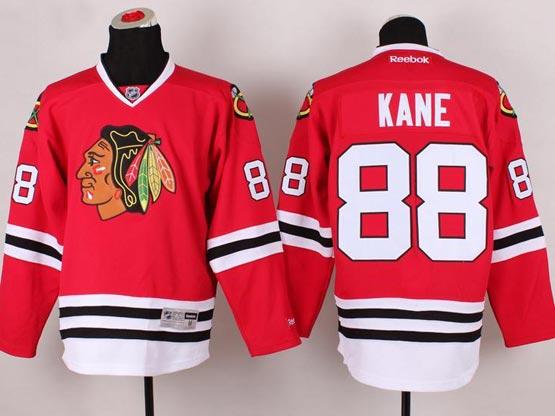 Mens reebok nhl chicago blackhawks #88 kane red (2014 new) Jersey