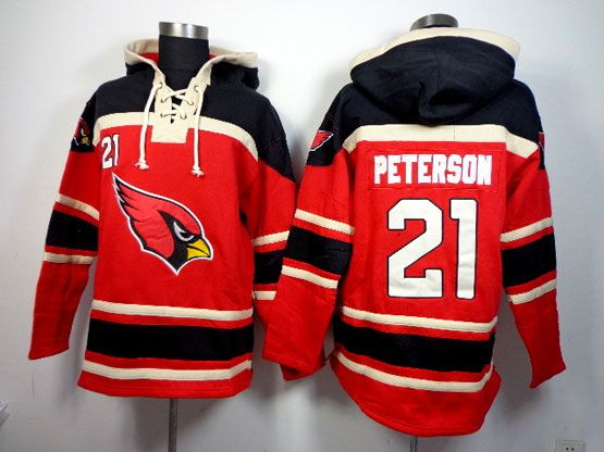 Mens Nfl Arizona Cardinals #21 Patrick Peterson Red (team Hoodie) Jersey