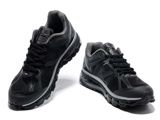 Women    Air Max 2012 Running Shoes Color Black&gray