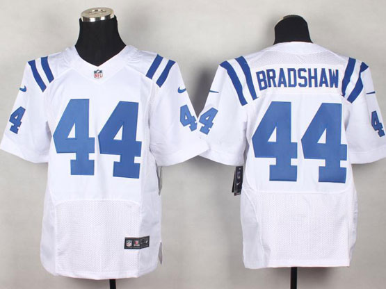 Mens Nfl Indianapolis Colts #44 Bradshaw White Elite Jersey