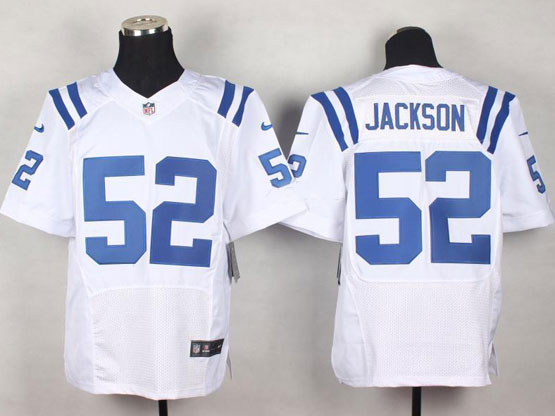 Mens Nfl Indianapolis Colts #52 Jackson White Elite Jersey