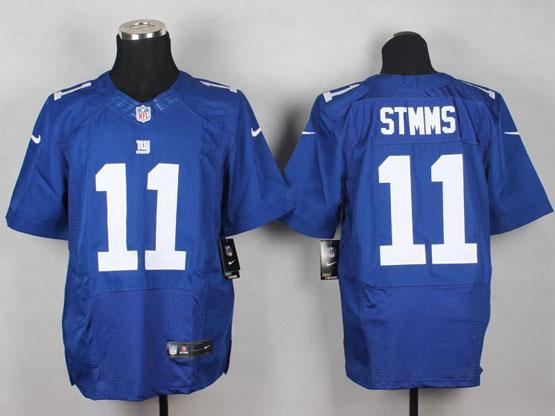 Mens Nfl New York Giants #11 Stmms Blue Elite Jersey