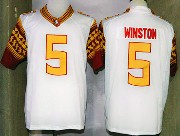 Mens Ncaa Nfl Florida State Seminoles #5 Winston White (2014 New Gold Number) Limited Jersey