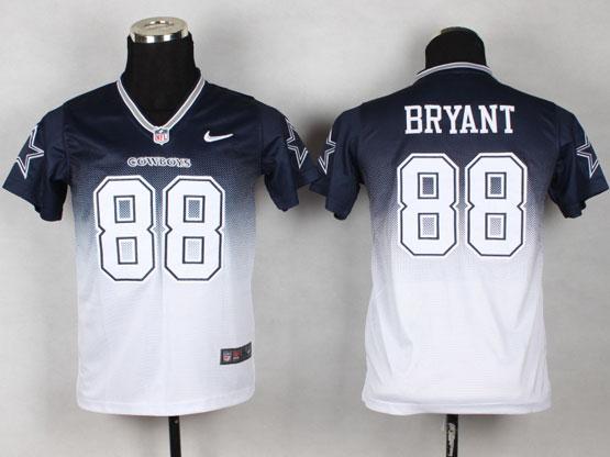 Youth Nfl Dallas Cowboys #88 Bryant Blue&white Drift Fashion Ii Elite Jersey