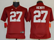 Youth Ncaa Nfl Alabama Crimson #27 Henry Red Limited Jersey