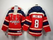 youth nhl washington capital #8 ovechkin red hoodie Jersey