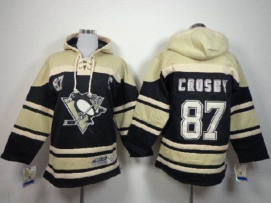 youth nhl pittsburgh penguins #87 crosby black hoodie Jersey
