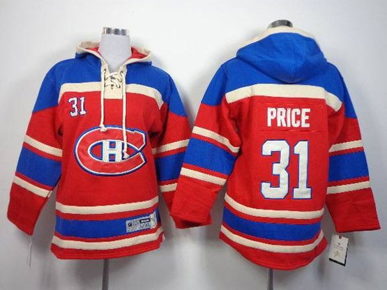 youth nhl Montreal Canadiens #31 Carey Price red (ch) hoodie jersey