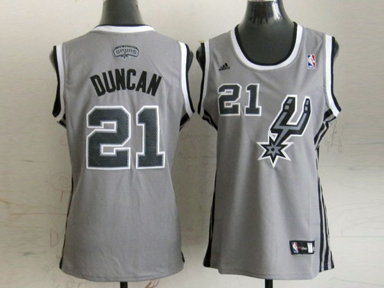 Women  Nba San Antonio Spurs #21 Duncan Gray Jersey