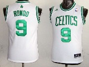 Youth Nba Boston Celtics #9 Rondo White (green Number) Jersey