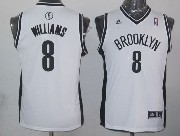 Youth Nba Brooklyn Nets #8 Williams White Jersey